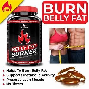 Cla Belly Fat Burner Pills - Stomach Weight Loss Supplement For Men  U0026 Women