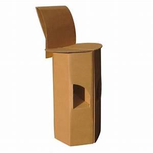 Tabouret A Poils : tabouret de bar en carton quart de poil ~ Teatrodelosmanantiales.com Idées de Décoration