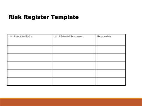 Risk Register Template Project Management By Dr Madhu Fernando Project Risk