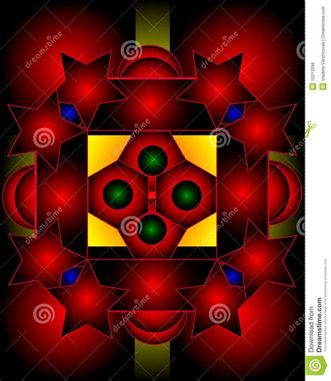 Graphic Composition With Use Of Stars, Pentagons Royalty