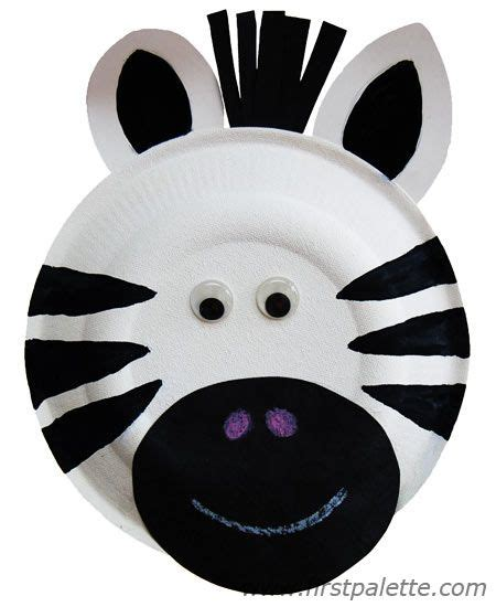 zebra template  preschool paper plate zebra  steps