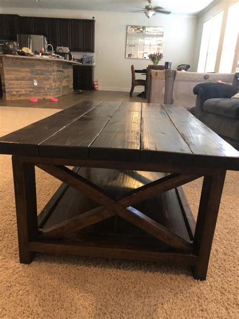 rustic  coffee   tables ana white