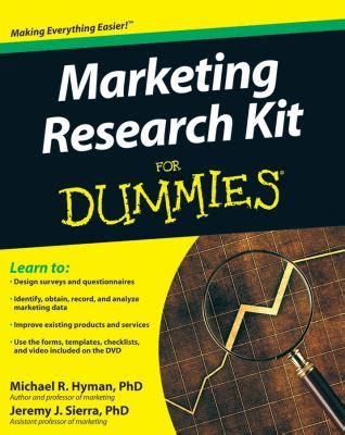 marketing for dummies marketing research kit for dummies for dummies