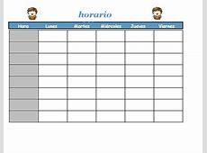 Formatos de horario de clases para imprimir SOY DOCENTE
