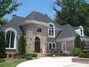 Luxury 2 Story Homes Brick Stone Images