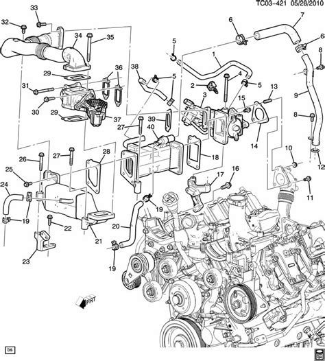 2006 Duramax Diesel Engine Diagram by E G R Valve Related Parts