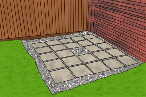 laying slabs for shed how to choose the right shed base