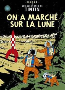 Tintin Poster - Explorers on the Moon - Give The Dog A Bone