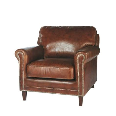 Distressed Leather Armchair by Distressed Leather Armchair In Brown Sinatra Maisons Du