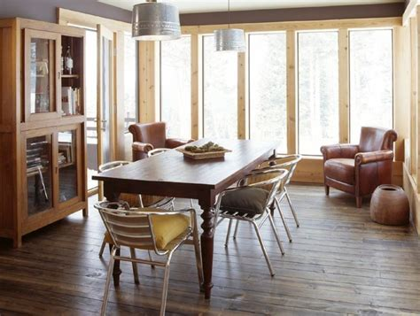 industrialize  dining room  metal dining chairs