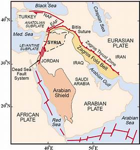 Map Showing Simplified Tectonic Setting Of The Arabian