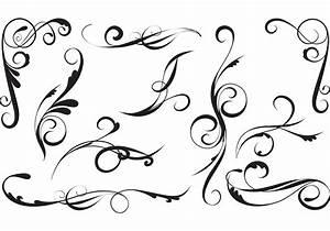 Elegant, Vector, Swirls, Pack, 6831