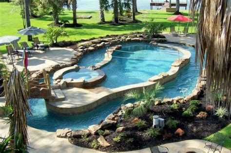 Backyard Pool With Lazy River by Best 25 Backyard Lazy River Ideas On