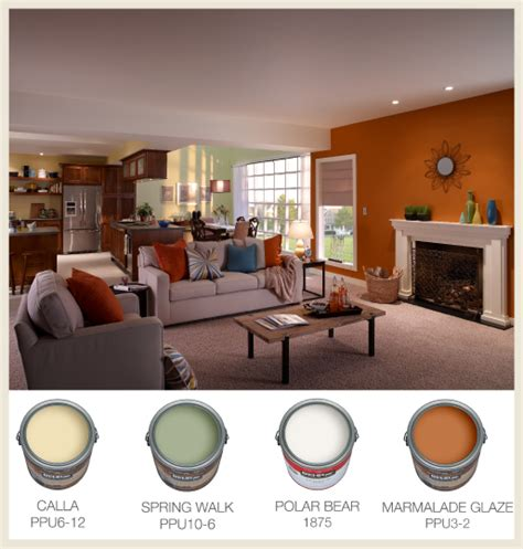 colorfully behr color  open floor plans