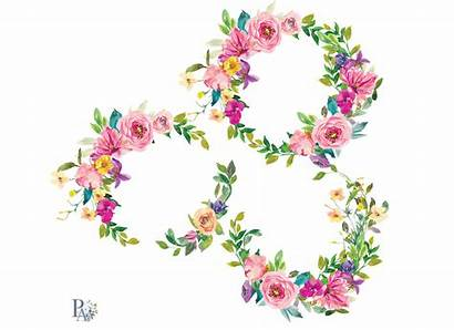 Wreath Clipart Watercolor Summer Flowers Colorful Thehungryjpeg