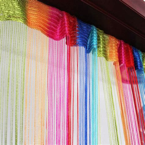 rainbow string curtain