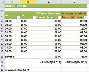 Format Berechnen : excel 2010 uhrzeiten ber 24 stunden berechnen ~ Themetempest.com Abrechnung
