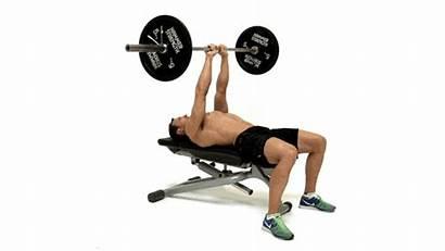 Press Grip Close Barbell Animation Bench Bodybuilding
