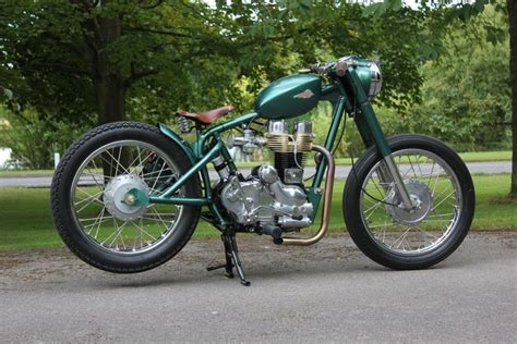 details about 1979 royal enfield bobber bullet 350 bobber the green meanie classic bike