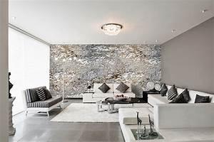 Graue Tapete Schlafzimmer : designtapeten in silber grau schwarz wei ~ Michelbontemps.com Haus und Dekorationen