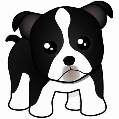 Dog Cartoon Puppy Clipart Face Terrier Boston