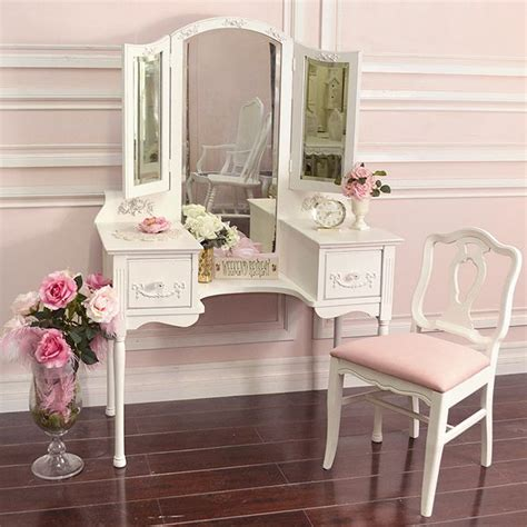 shabby chic makeup vanity table shabby cottage chic french vintage style vanity makeup table trifold mirror 795 wishlist