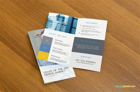 A Collection Of Free Psd Brochure Mockups Collection Of 30 Free Flyer Mockup Designs