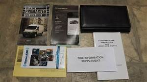 2015 Dodge Ram Promaster Owners Manual Set User Guide