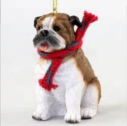 bulldog ornament scarf figurine ebay
