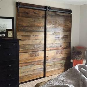 25 best ideas about sliding closet doors on pinterest With bypass barn doors for closets
