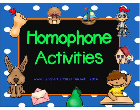 digraphs  images homophones activity