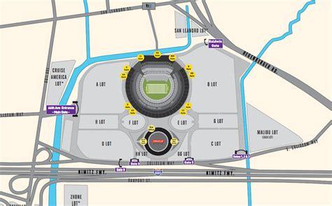 Lot Parking Map Oakland Coliseum