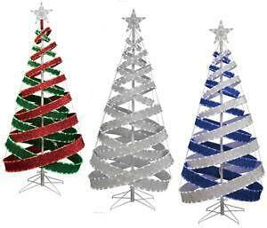 outdoor indoor blue white 818 led spiral tape pop up christmas tree outdoor tree ebay