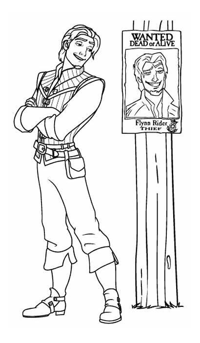 Flynn Coloring Rider Colouring Ryder Sketches Rapunzel