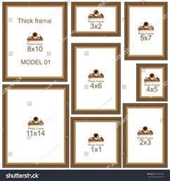 wedding photo album 4x6 popular picture frame sizes wood border stock vector