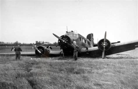 Junkers Ju 52 Belly Landing  World War Photos