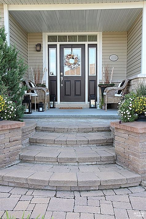 front porch steps curb appeal ideas and porch decor tips setting for four