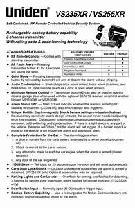Uniden Vs2100xr Installation Manual