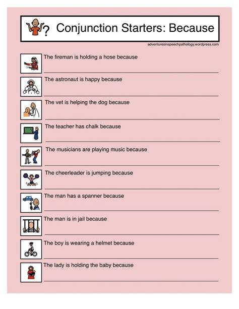 conjunctions worksheet because conjunction starter worksheets because 3rd grade ela