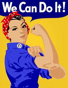 Clipart - We Can Do It! Poster