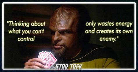 Klingon Saying quoted by Worf   Star trek quotes, Fandom ...