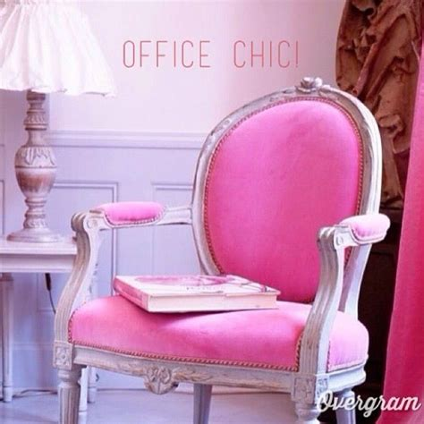 shabby chic office chairs pink in the office