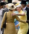 Zara Phillips, Mrs. Michael Tindall, greets her mother ...