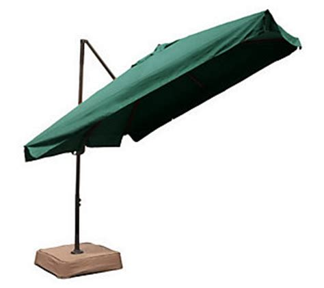southern patio easy tilt square offset umbrella with base