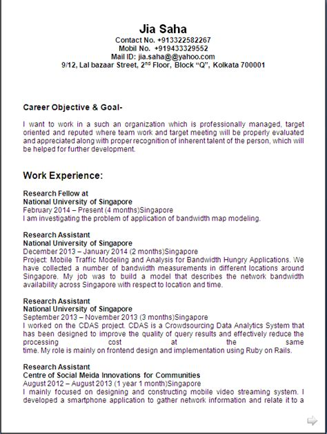 Computer Science Engineering Resume Format by Resume Co Resume Sle Computer Science Engineer 6 Years Experience