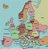 map of Europe with countries labeled   learn something new ...