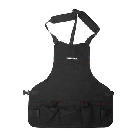 kitchen faucets lowes husky 23 5 in canvas bib apron black hd00122 the home depot