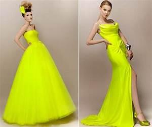 robe de mariee jaune fluo With robe jaune fluo