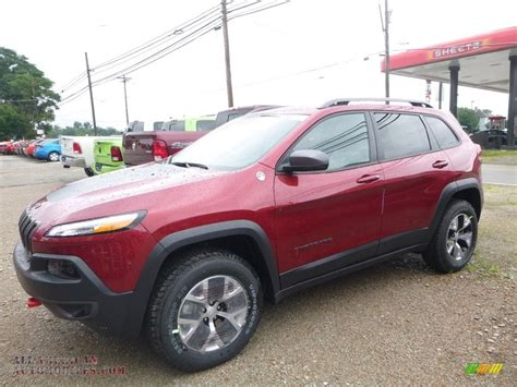 jeep cherokee trailhawk red 2017 jeep cherokee trailhawk 4x4 in deep cherry red
