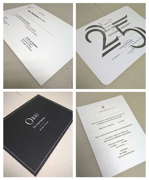 thick foiled luxury invitations  images business